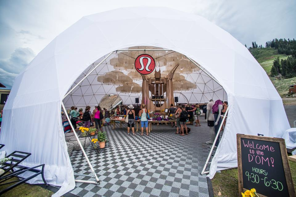 Lulu Lemon had a pop-up store. Photo by Ali Kaukas, Wanderlust Festival Facebook Page
